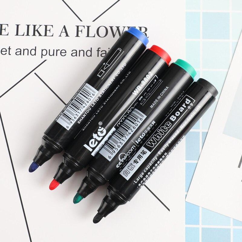 1 pcs Erasable Marker Pen Whiteboard School Dry Erase Markers Blue Black Red Green Office Supplies 882