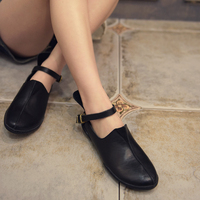 Artmu Handmade High Quality Genuine Leather Shoes Cowhide Shoes Vintage Casual Personality Hasp Women S Flat