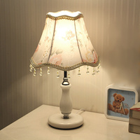 E27 European Adjustable Light Bedroom LED Table Lamp Iron Fabric Decoration Bedside Lamp With 1 2