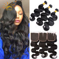 Malaysian Body Wave With Closure 7A Malaysian Virgin Hair With Closure 3 Bundles Weave With Closure Human Hair Weft With Closure