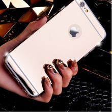 Flash Fashion Rose gold Luxury Plating Mirror Phone Case For iPhone 7 7plus 6 6s 6Plus 8 8plus X Xs Max Xr 5 5s Se Back Cover