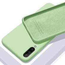 Capa de silicone líquido macio para celulares, capinha protetora traseira para smartphones xiaomi mi a3 e a3 lite escudo do do telefone a3lite