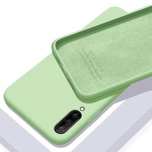 Image 1 - Für xiaomi mi A3 Fall Weiche Flüssigkeit Silikon Schlank Haut Coque Schutzhülle zurück abdeckung Fall für xiaomi mi a3 lite a3lite telefon shell
