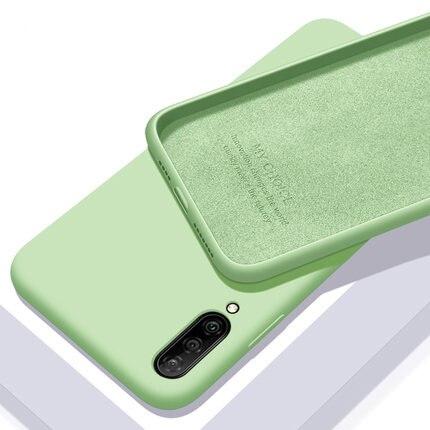 Pour xiaomi mi A3 Coque souple en Silicone liquide mince Coque de protection arrière pour xiaomi mi a3 lite a3lite Coque de téléphone