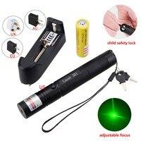 Mini Rouge/Vert/Violet Pointeur Laser Stylo Lumière Mise Au Point Réglable Visible Faisceau Brûlant Lazer Lumière 5 mw