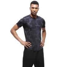 URBRAV Men Running T-shirts Quick-dry Summer T-Shirts Sport Short Sleeves Basketball Fitness Gym Top Tee