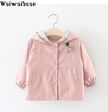 Waiwaibear Spring Baby Girls Coats Babys Outfit Casual Hooded Jacket Outerwear For Kids Clothes Coat Jackets ALW1
