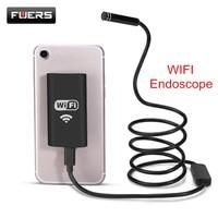 Fuers Wifi Endoscope Camera Waterproof Inspection Borescope IOS Endoscope 1M Semi Rigid Hard Tube Softwire Endoscope
