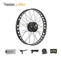 Pasion E Bike 48 В 750 Вт Электрические велосипеды жира велосипеды conversion kit 26 Заднее колесо bafang 175 мм концентратора Двигатель 80 мм Диски ЖК дисплей ко