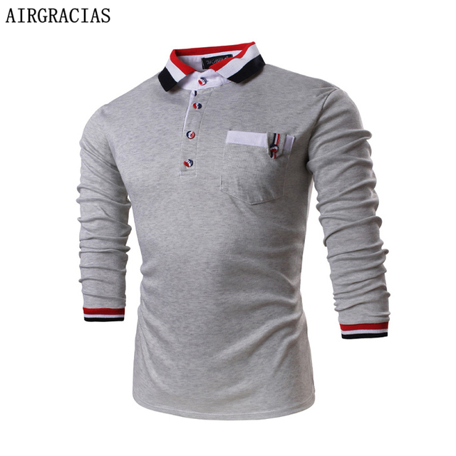 Высокое Качество мужской Бренд Одежды Polo Рубашки Мужчин Дизайнер Поло Классический Мужчины 100% Хлопок С Длинным Рукавом polo рубашки повседневные трикотажные изделия