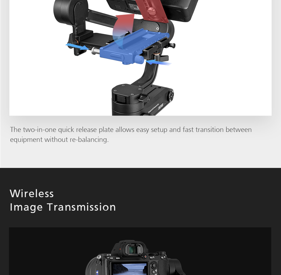 Zhiyun WEEBILL LAB 3-Axis OLED Display Stabilizer For Sony Panasonic GH5s Mirrorless Camera Handheld Gimbal With Focus Control 6