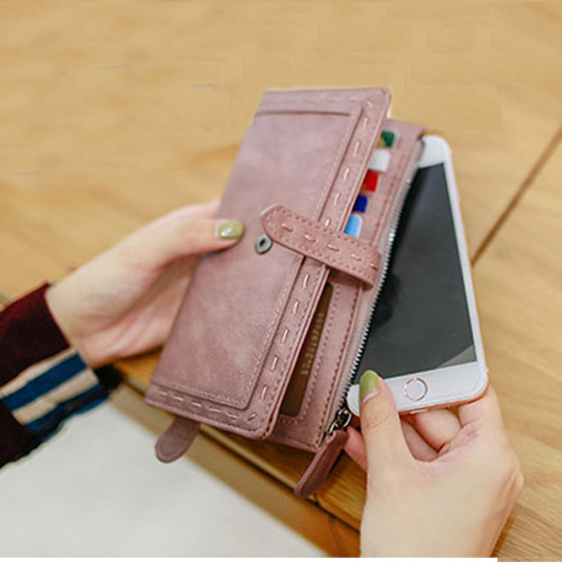 New Brand Women's Purse Fashion Lady PU Leather Long Women Wallet Female Purse Women Clutch Bag Money Coin Pocket Card Holder new women wallets cute cartoon bear lady purse fashion design clutch wallet pu leather female card holder fashion bag