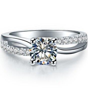 Solid Platinum 1CT Diamond Engagement Ring  2