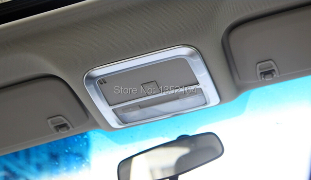 Auto reading light trim,roof lamp bezel for Buick Excelle 2015, abs chrome,auto accessories,free shipping.