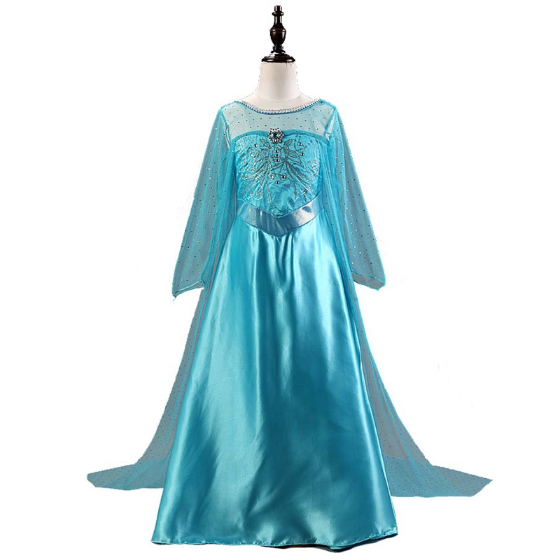 High Quality Girl Dresses Princess Children Clothing Anna Elsa Cosplay Costume Kid's Party Dress Baby Girls Cartoon Clothes