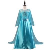 High Quality Girl Dresses Princess Children Clothing Anna Elsa Cosplay Costume Kid S Party Dress Baby