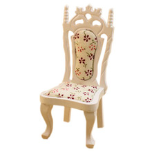 1/12 casa de muñecas en miniatura muebles vintage sala de estar silla blanca