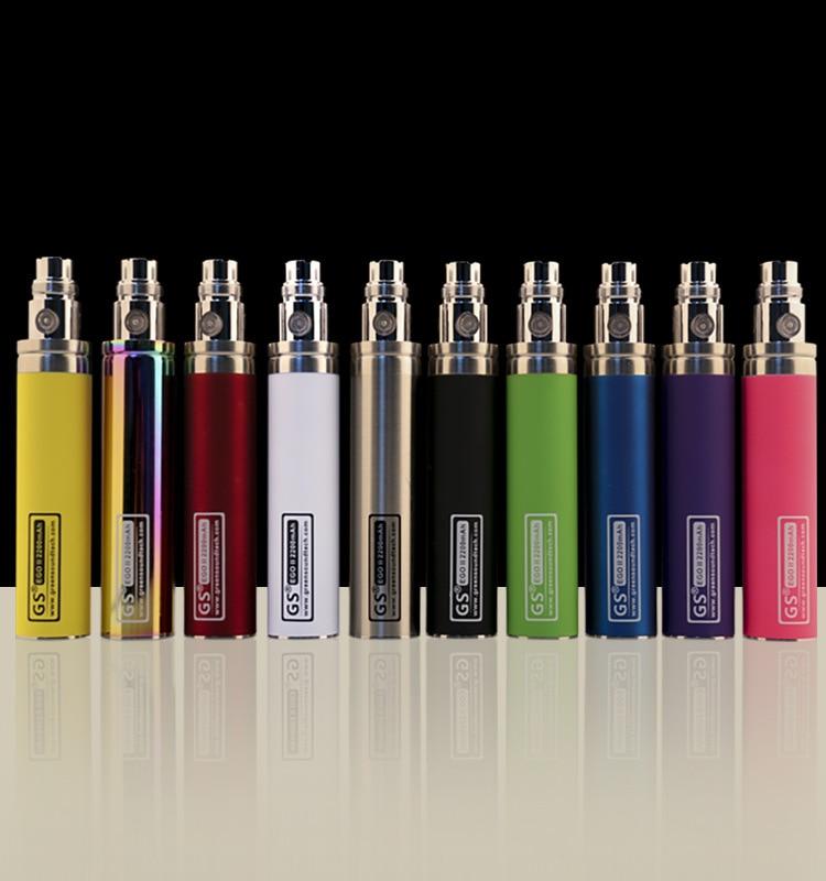 Vaporisateur de cigarette électronique de batterie 2200mAh II GS EGO batterie électronique 2200 KOne pour 510 CE4 MT3 GS H2 Atomiseurs Vape Pen Kit