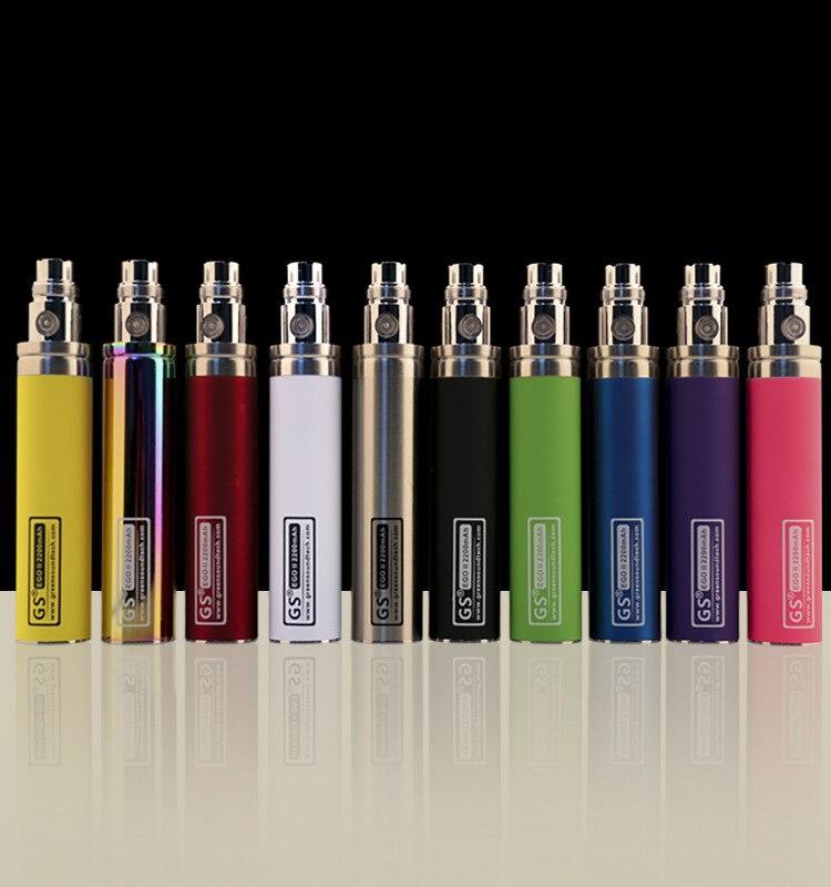 Original GS EGO II 2200 mah Batterie Elektronische Zigarette Verdampfer 2200 KOne Batterie für 510 CE4 MT3 GS H2 Zerstäuber vape Stift Kit