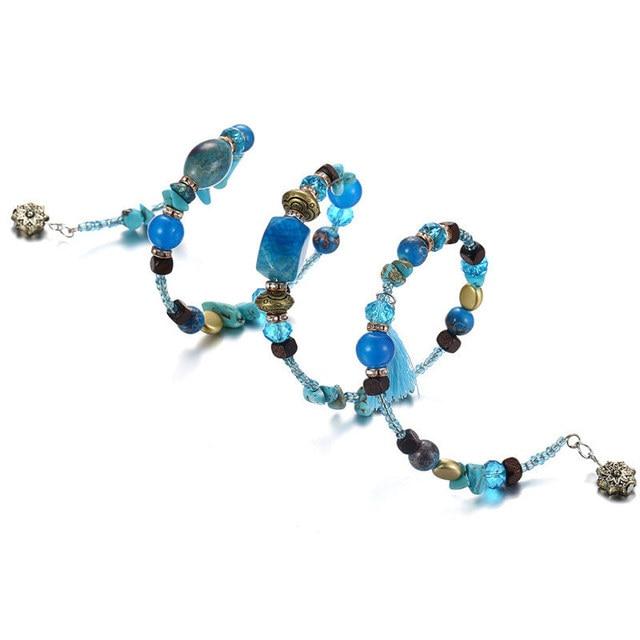 janeyacy винтажные браслеты с кисточками из смолы и камня женский фотография