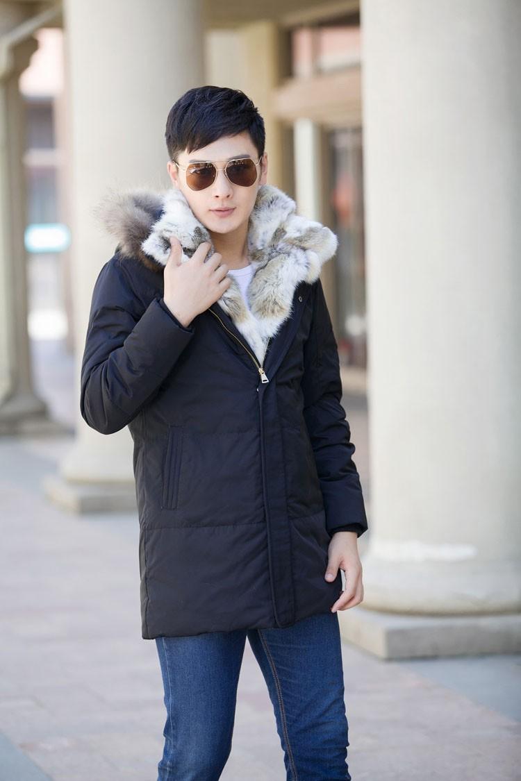 Winter Down Jacket Men Fur Parka Fashion Casual Thicken Warm Fur collar Hooded Men Women jacket&coat couple Down Jacket S-5XL (6)