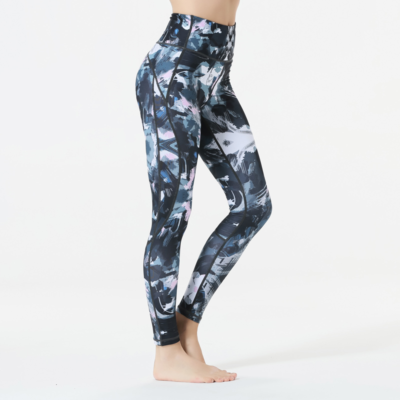 2018 new Ladies Sport Feminine Floral Printed Yoga Pant Operating Leggings Sweat Plum blossom Yoga clothes Yoga Pants, Low-cost Yoga Pants, 2018 new Ladies Sport Feminine Floral Printed Yoga...