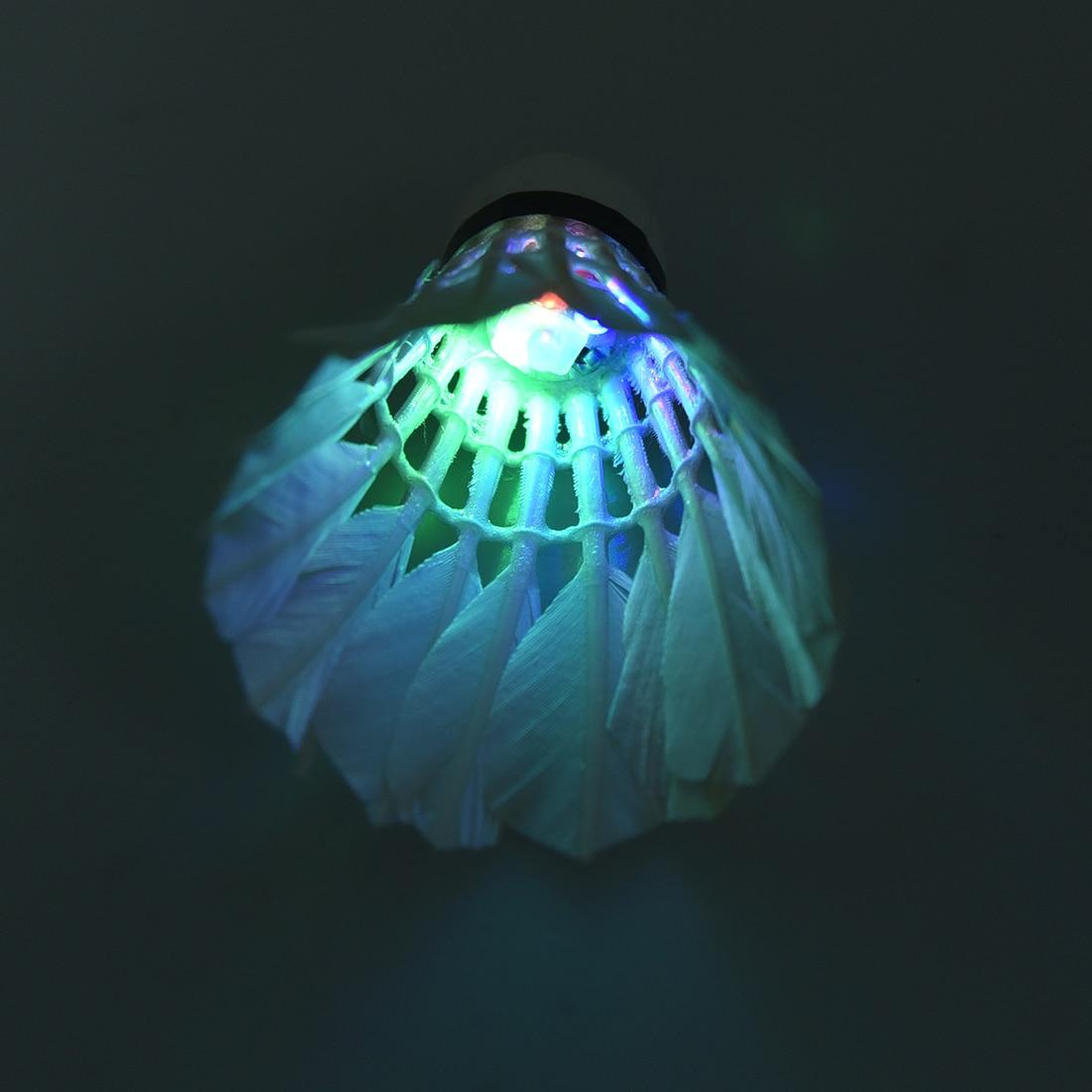 New Sale 2Pcs LED Badmintons Shuttlecocks Light