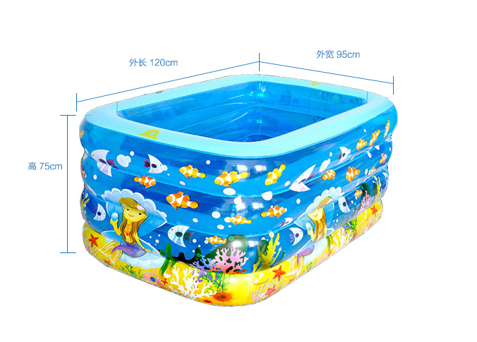 2016 New Aerated Square or round large thickness baby childrens swimming pool leakproof and antifreezing