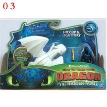 Как приручить дракона 3 Беззубик свет яня ночь яура ПВХ Кукла Коллекция Фигурки игрушки для детей подарки на день рождения