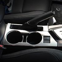 Внутренняя отделка спереди держатель стакана воды рамы накладка наклейки подходят для Toyota Corolla E170 2014 2015 2016 2017 стайлинга автомобилей