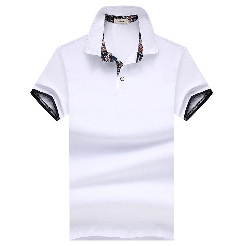 Liseaven Polos Polo Camisa Casual Cor Sólida de Algodão dos homens Slim Fit  Top Polos Artigo Camisas Masculinas Camisas Pólo de Manga Curta topos em  Polo de ... e35c6280f884d