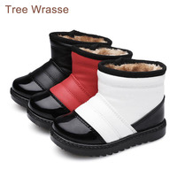 Boots For Children 2017 Winter Waterproof Children Snow Boots Boys And Girls Boots Non Slip Cylinder