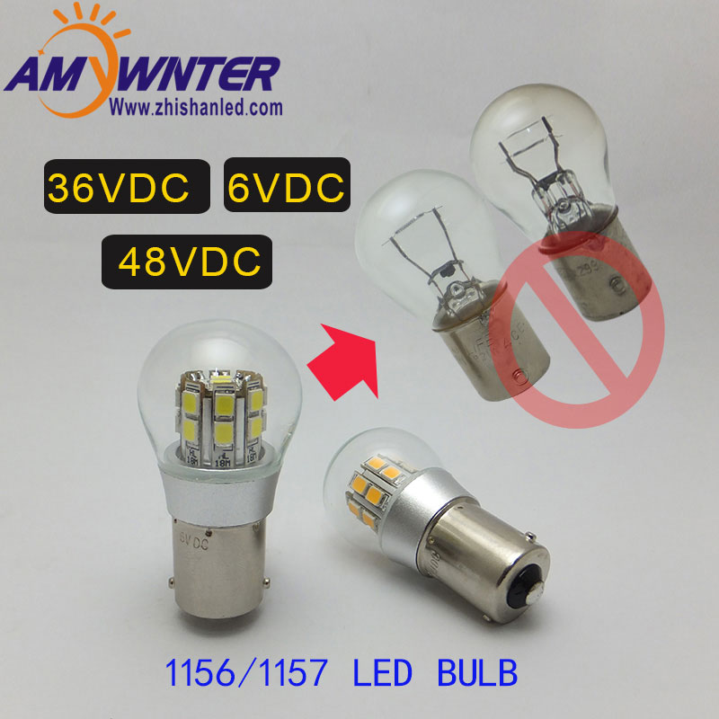 1156 led P21W Dual Light 6v P21/5w Bay15d 36v 48v Led Car-styling Signal Lamp Headlight Bulb Car Lights 3w Parking Brake