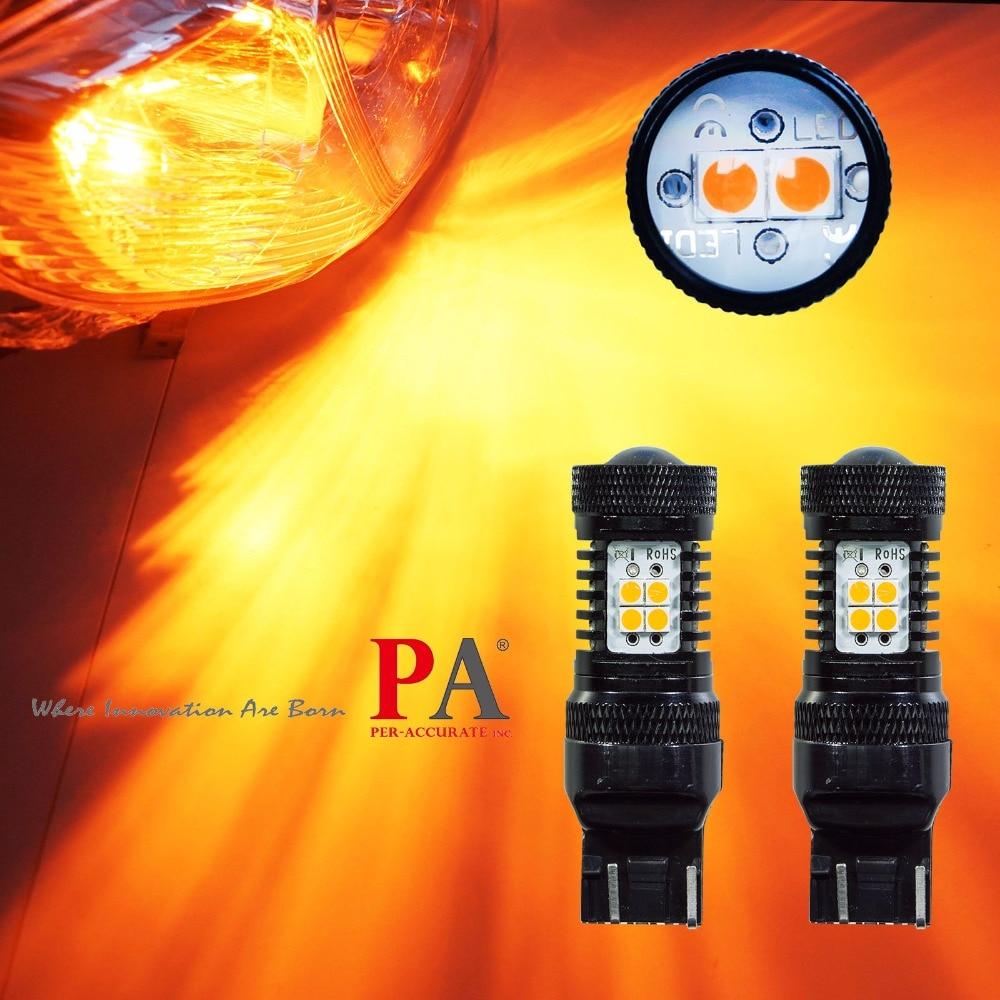 PA LED 2pcs x 14SMD 3030 LED Chipset Ultra Bright T20 7440 7443 with Projector Bulb (Yellow) 12V aqua pa ultra soft match 100m 0 18mm 3 60kg