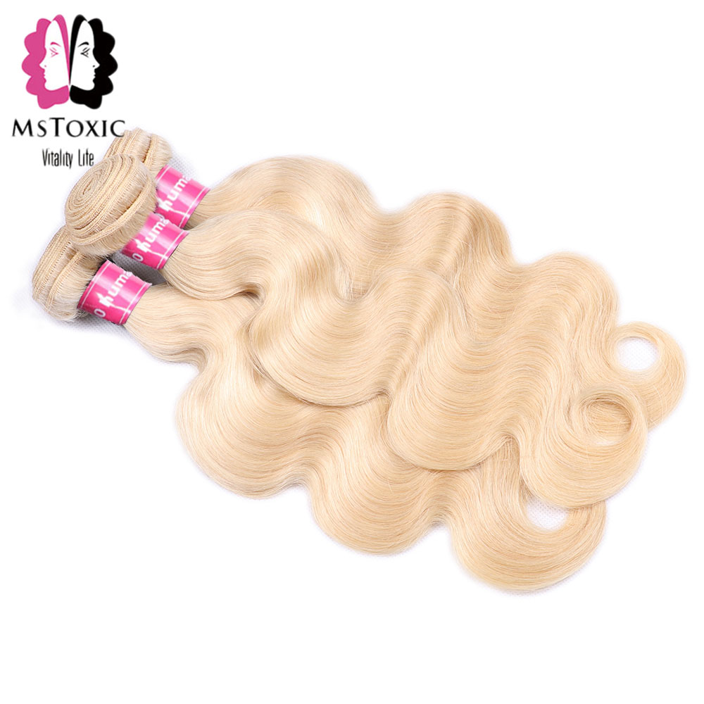 Mstoxic 613 Bundles With Closure Malaysian Straight Hair Bundles With Closure Remy Human Hair Honey Blonde Bundles With Closure Hair Extensions & Wigs 3/4 Bundles With Closure