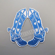 Embroidery Patches for Jacket Back Vest Motorcycle Biker Boots 10cm(China)