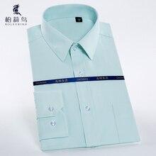 Для мужчин, рубашка с длинным рукавом платье с левый нагрудный карман Формальные Бизнес Slim-Fit удобные твил/в полоску Мужской офис Рубашки для мальчиков