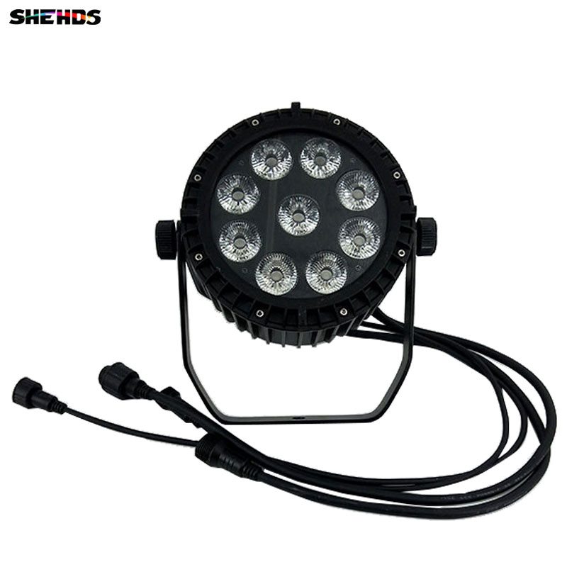 Waterproof LED Can 9x18W LED DJ Disco Light Theater Wash Light Outdoor RGBWA+UV 6in1 Stage Lighting Led Waterproof Black Body