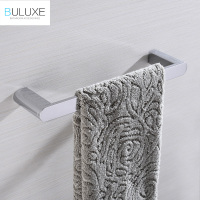 BULUXE Brass Bathroom Accessories Towel Rack Holder Rings Chrome Finished Wall Mounted Bath Acessorios de banheiro HP7741
