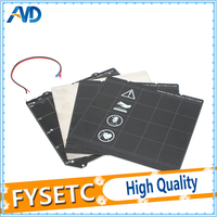 Clone Prusa i3 MK3 Magnetic Heated Bed MK52 Wiring Thermistor Kit With Magnet + Steel Sheet +2pcs Black Sticker For Prusa i3 MK3