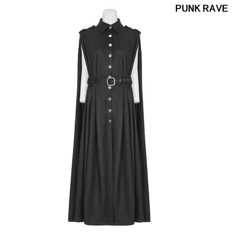 Mode poches des deux côtés sans doublure manteau deux porter uniforme militaire exquis laine tissu vestes PUNK RAVE WY-885DPF