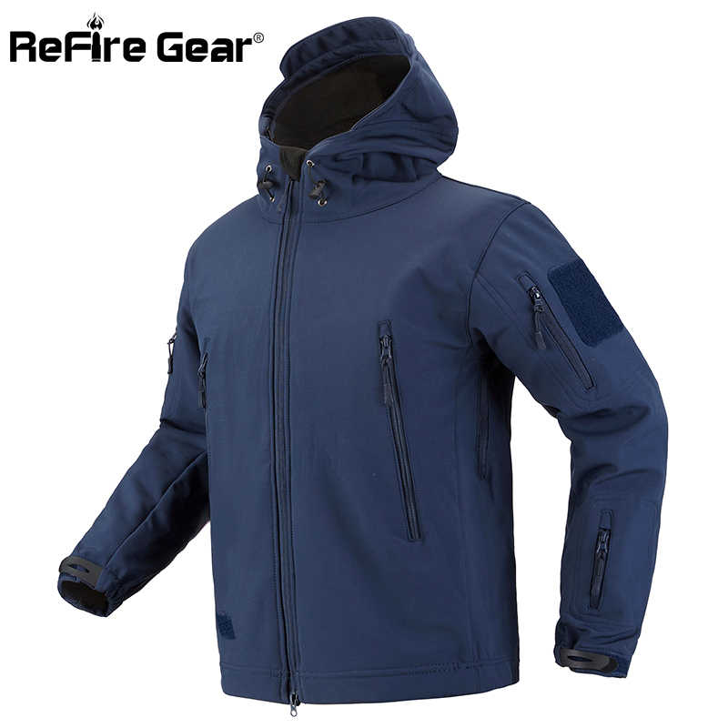 888fdacab4851 Detail Feedback Questions about ReFire Gear Camouflage Military Jacket Men  Waterproof Soft Shell Tactical Jacket US Army Clothing Winter Fleece Coat  ...