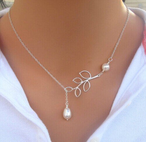Hesiod Fashion Silver Color Leaf Choker Necklaces for Women New Trendy Simulated