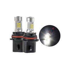 1 Pair White High Power 9004 HB1 21-SMD 2538 Chips LED Car Auto Fog Lights Headlight Lamp Bulb DC12V