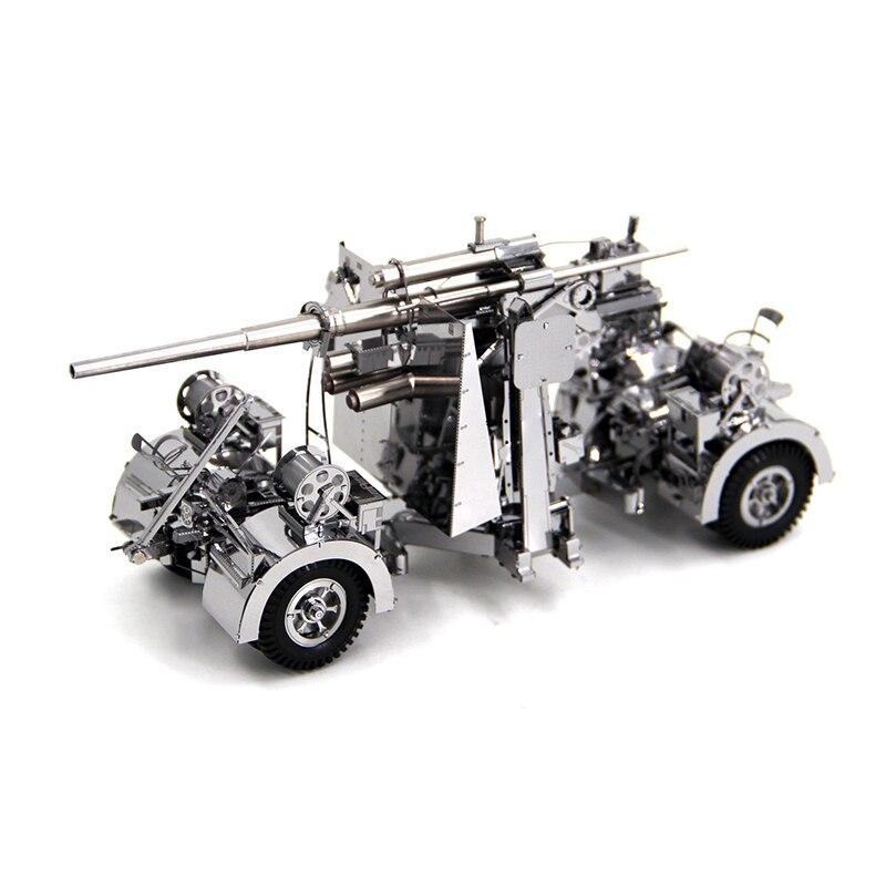 3D casse-têtes en métal Modèle Allemagne 88 d'arme Antiaérien et D'artillerie Puzzle Enfant Adulte jouets éducatifs Collection De Noël Cadeaux - 4