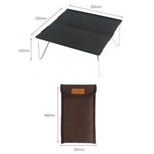 Image 4 - חיצוני מתקפל שולחן עמיד אלומיניום צלחת שולחן נייד קל משקל מיני ריהוט עבור ברביקיו קמפינג פיקניק מסלולי טיולים