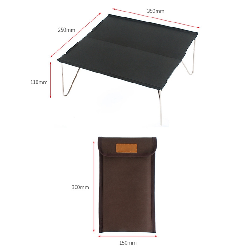 Image 4 - Outdoor Folding Table Durable Aluminum Plate Portable Table Lightweight Mini Furniture For Barbecue Camping Picnic Hiking-in Outdoor Tables from Furniture
