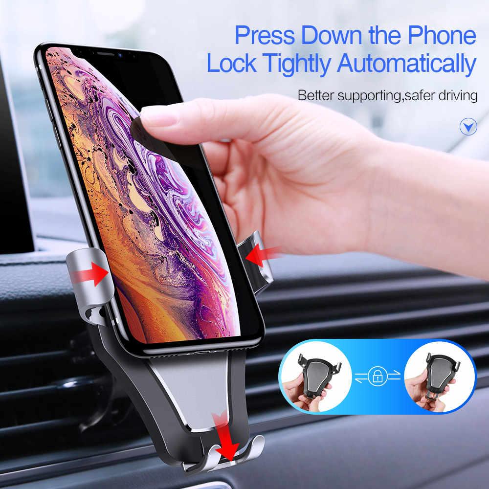 CASEIER Presse Blocco Gravità Mobile Supporto Del Telefono Dell'automobile Per il iphone 8 7 Più Il Basamento In Supporto da Auto Per Samsung Galaxy UN J S Serie di Note