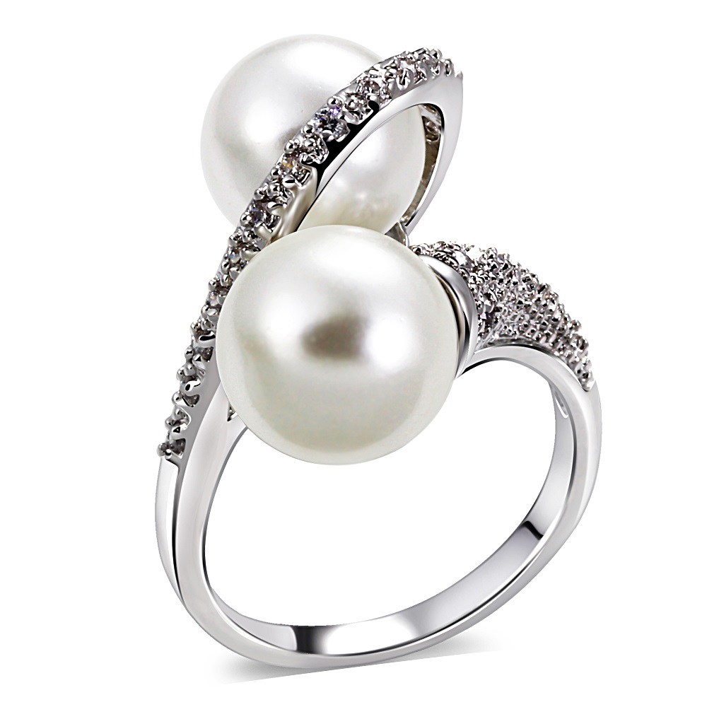 Special Offer Ring for Women Trendy Jewelry Wedding Party Simple Style Shell Pearl Ring Cubic Zircon Rings Elegant Fashion Gift