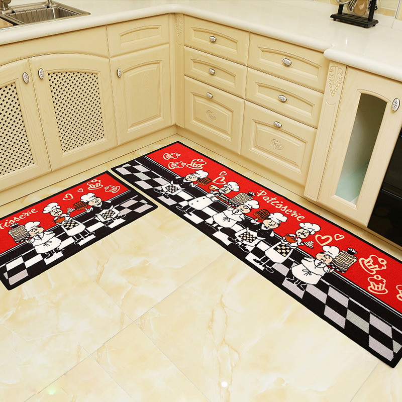 Anti Slip and Water Absorbent Kitchen Mats in Rectangle Shape for Kitchen and Bathroom Floor